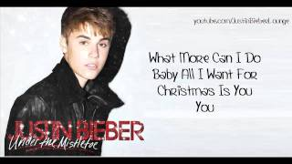 Justin Bieber Mariah Carey Duet - All I Want For Christmas Is You [LYRICS ON SCREEN]