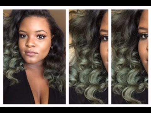 dye hair silver olive