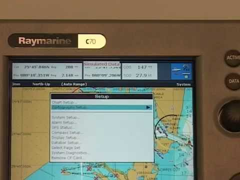 Raymarine A & C Series Chartplotter