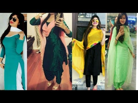 Latest Plain Punjabi Suit Collection/simple Suit With Heavy Duppatta Pic/ Punjabi Suit Collection