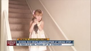 School bus drops kindergartner at wrong stop