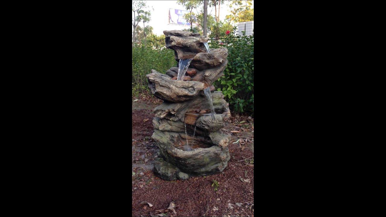 Comment Construire Une Fontaine Exterieure fontaine avec cascade et éclairage led en résine norfolk - set complet