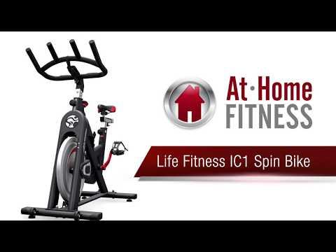 Life Fitness Ic1 Spin Bike Review Athomefitness Com Youtube