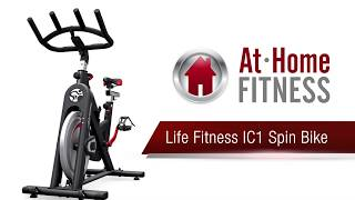 Life Fitness Ic1 Spin Bike Review Athomefitness Com Youtube