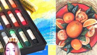 """ОБЗОР: Сухая пастель MUNGYO Handmade soft pastel и Бумага для пастели Winsor&Newton """"Tints"""""""