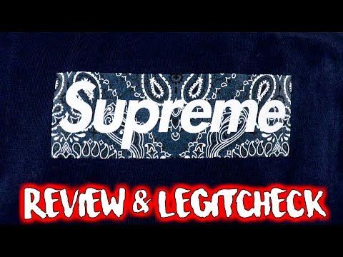 "Supreme Fw19 BOX LOGO Tee REVIEW & LEGIT CHECK ""Bandana Bogo"""