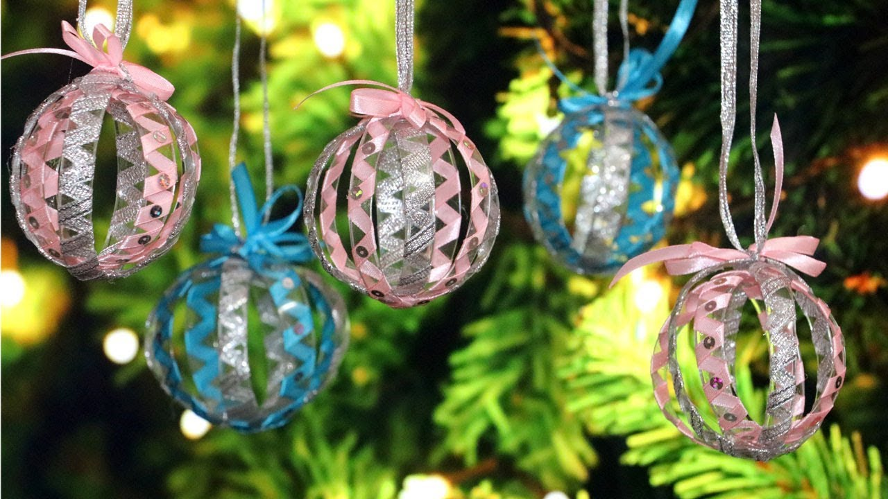 diy christmas tree ornaments christmas decorations from plastic bottle youtube. Black Bedroom Furniture Sets. Home Design Ideas