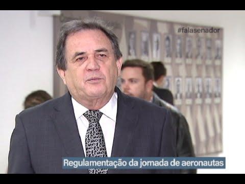 #falasenador: Waldemir Moka defende projeto que regulamenta jornada de aeronautas