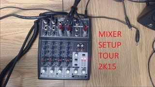 Livestreaming and Youtube Mixer Setup Tour (Behringer Xenyx 802)