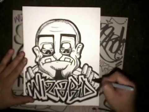 Drawing Wizard Graffiti and Graffiti characters.wmv - YouTube