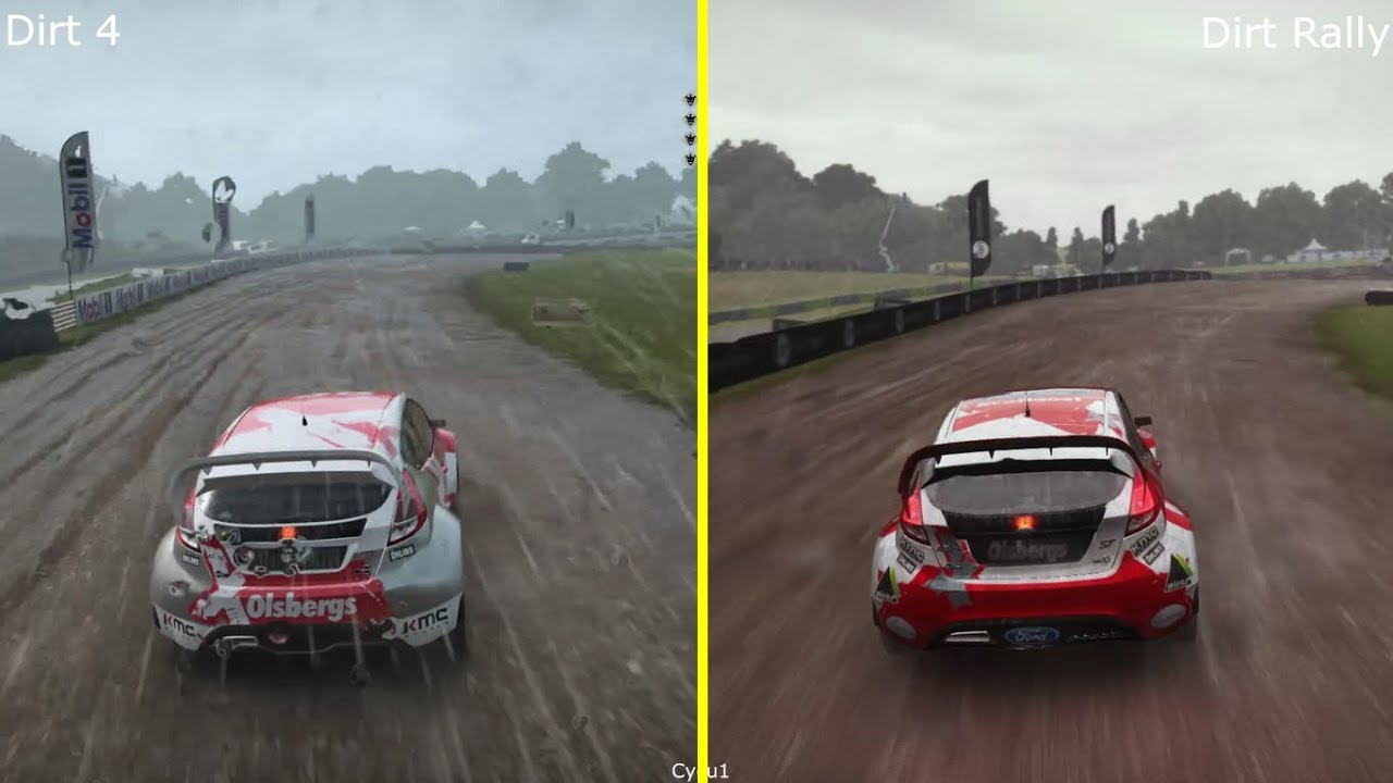 dirt 4 vs dirt rally ps4 pro graphics comparison youtube. Black Bedroom Furniture Sets. Home Design Ideas