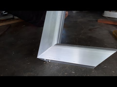Aluminium Door frame joint / 45° degree cutting and assemble
