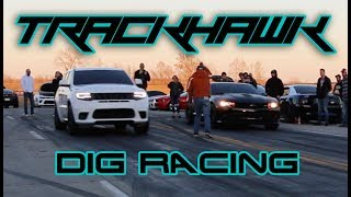 Stock Jeep TrackHawk vs 450-800hp cars (8 min of just racing)