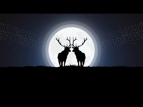 Two Deers in love Moonlight Vector Illustration - Illustrator Tutorial thumbnail