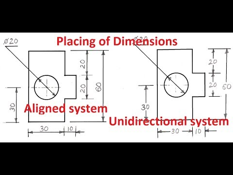 1.3-Placing of Dimension Systems in Engineering Drawing