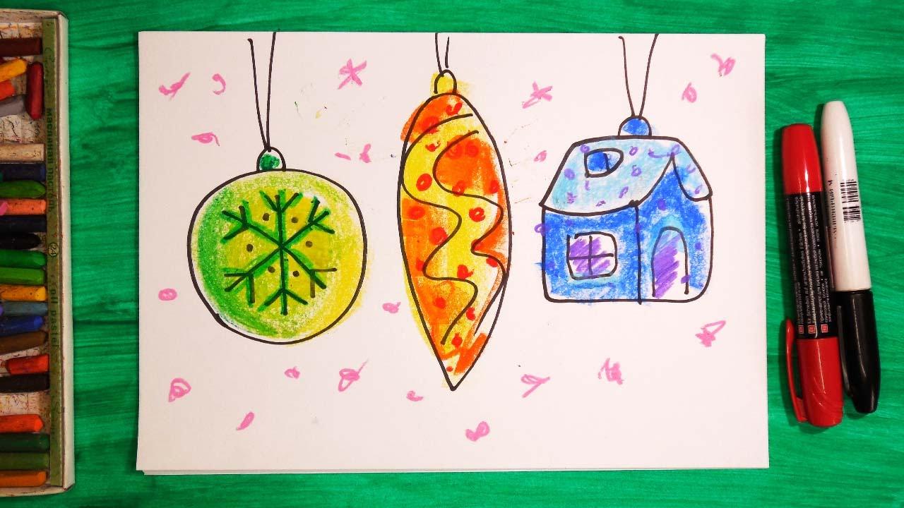 Уроки рисования 4 класс новый год
