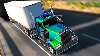 TRUCK CONVOY AND EMBARRASSING SHAME?! (American Truck Simulator Gameplay Roleplay) Truck Crashes!