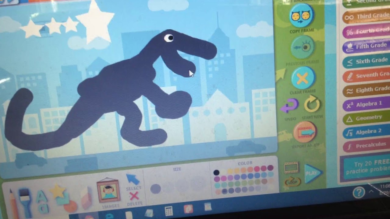 Abcya animate lets children create animations from drawings.