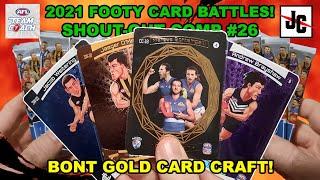 BONT GOLD COLLAGE CARD CRAFT! - 2021 AFL TeamCoach | Footy Card Battles