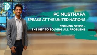 PC Musthafa at the United Nations headquarters