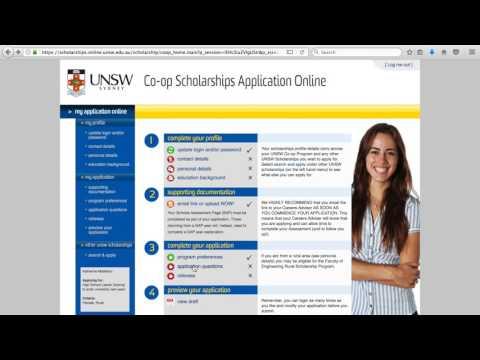 UNSW Co op Program APPLICATION