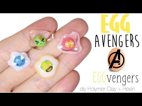 """How to DIY Marvel Egg Avengers """"EggVengers"""" Polymer Clay/Resin Tutorial"""