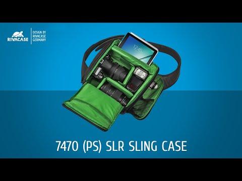 Riva 7470 slr sling case black рюкзак для зеркальной фотокамеры рюкзаки делсей