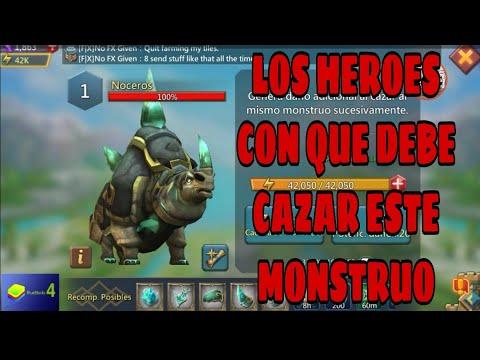 ¿Cuales Heroes Necesitas Para Atacar Monstruo NOCEROS -CONSEJOS Y MAS -LORDS MOBILE
