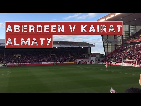 Pre-match atmosphere at Pittodrie | Aberdeen v Kairat Almaty