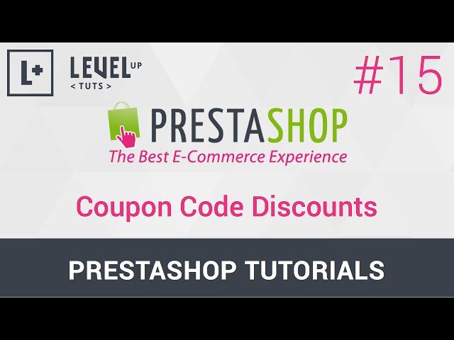 PrestaShop Tutorials #15 - Coupon Code Discounts