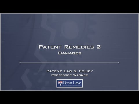 Lecture 24 - Patent Remedies 2