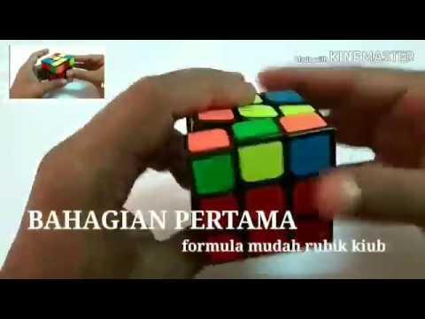 Rubik kiub 3x3 dan cara menyelesaikan dengan formula mudah bahagian 1