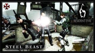 Resident Evil 6 PC Gameplay (Coop) - The Mercenaries No Mercy - Steel Beast