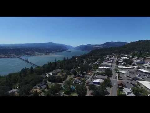 White Salmon, Washington from a DJI Phantom 3 Pro