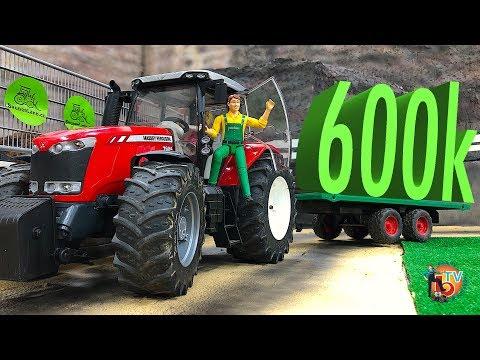BRUDER TOYS BEST of VIDEO 600k SUBSCRIBE!  RC Trucks \u0026 Tractors
