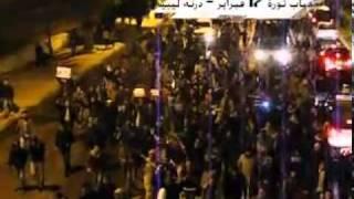 مظاهرات ابناء درنة المطالبة برحيل القذافي والمستمرة