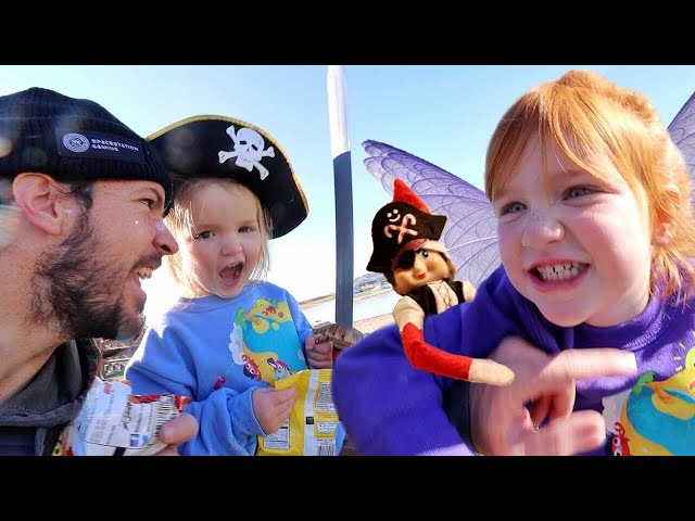 Snowy the PiRATE ELF!! our last Fairy Battle before Winter! Adley & Niko visit new Christmas Lights!