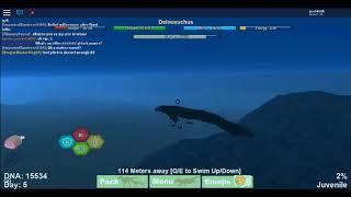 Roblox (Dino Sim) Glitched Health GAB