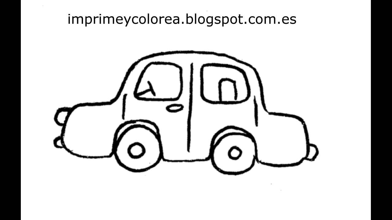 Dibujo De Un Coche Para Imprimir Y Colorear Youtube