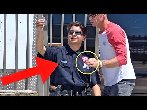STEALING A COPS BADGE!!! (So Scary!)