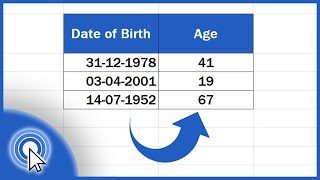 How to Calculate Age Using a Date of Birth in Excel (The Easy Way) screenshot 3