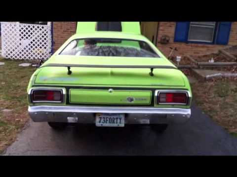 73 duster 340 SIX PACK  YouTube