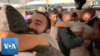 Boat Stranded 19 Days Outside Italy Celebrates Approval to Come Ashore