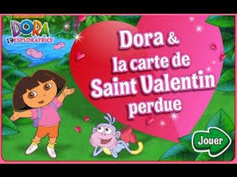 dora lexploratrice la carte de la saint valentin perdue jeux dora en franais