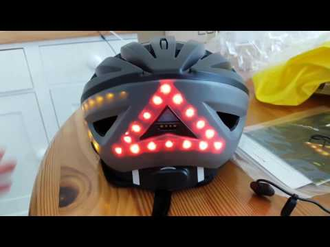 WHITE LUMOS smart bike helmet LED lights with indicator brake signals bluetooth