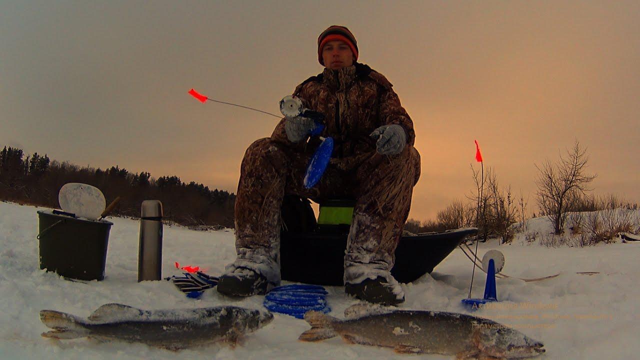 имевший ловля щуки на жерлицы зимой на реке большой попкой получила