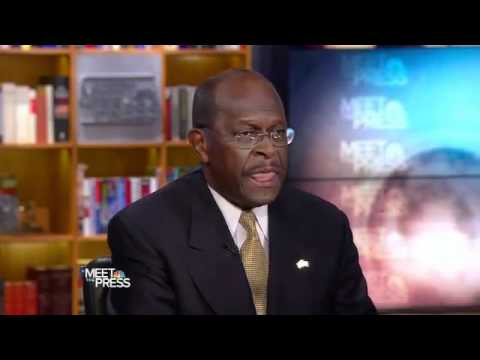 Herman Cain tells Meet the Press liberals are destroying the country.mp4