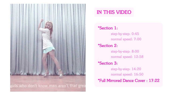 miss a only you full mirrored dance tutorial by chunactive