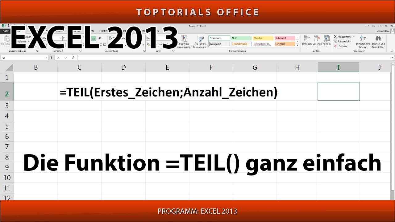 Teil Excel
