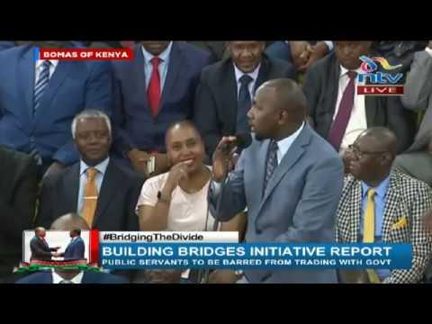 Senator Kipchumba Murkomen booed during BBI report launch